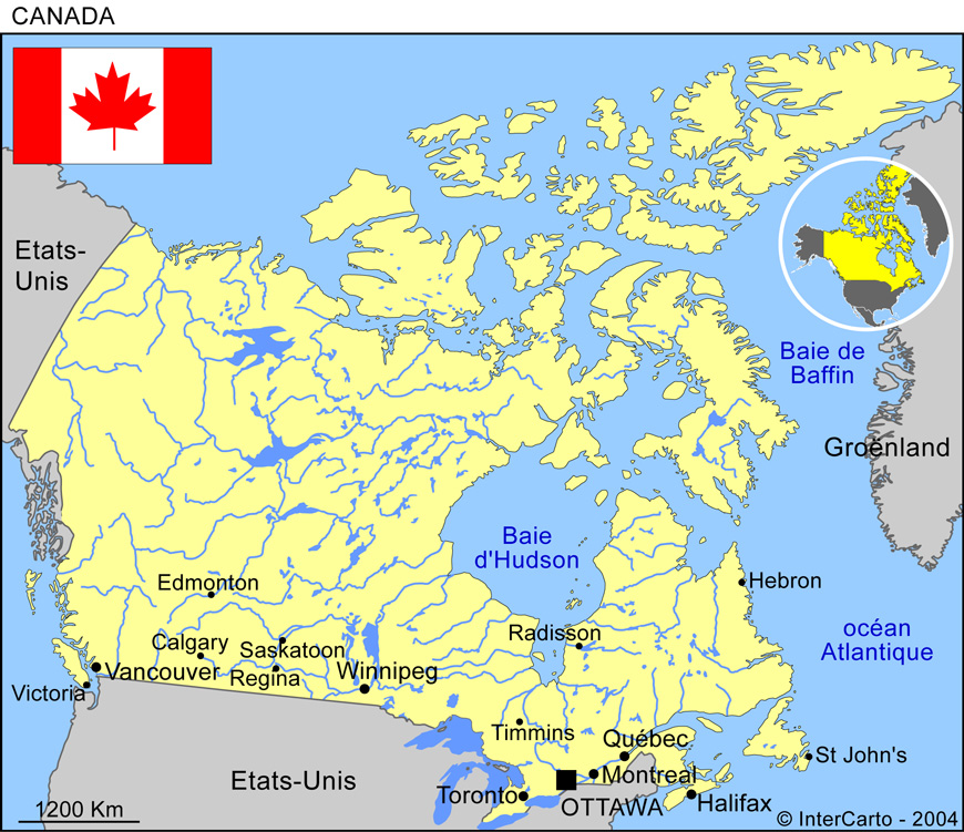 ottawa carte du canada