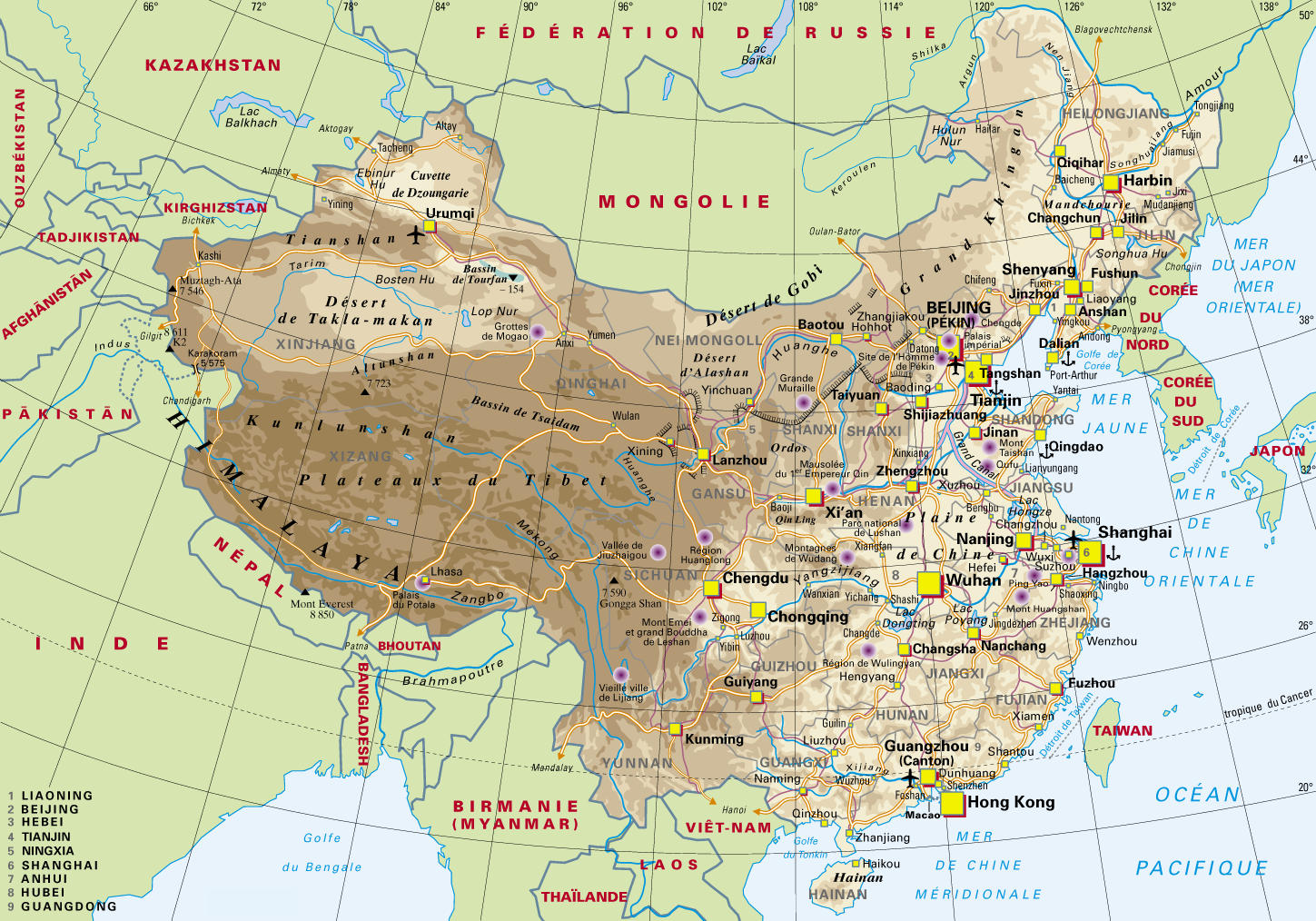 la-chine-carte-geographique
