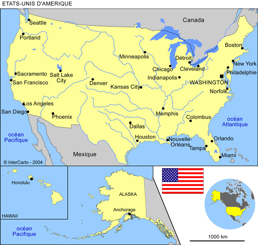 Carte floride usa - Office tourisme etats unis ...