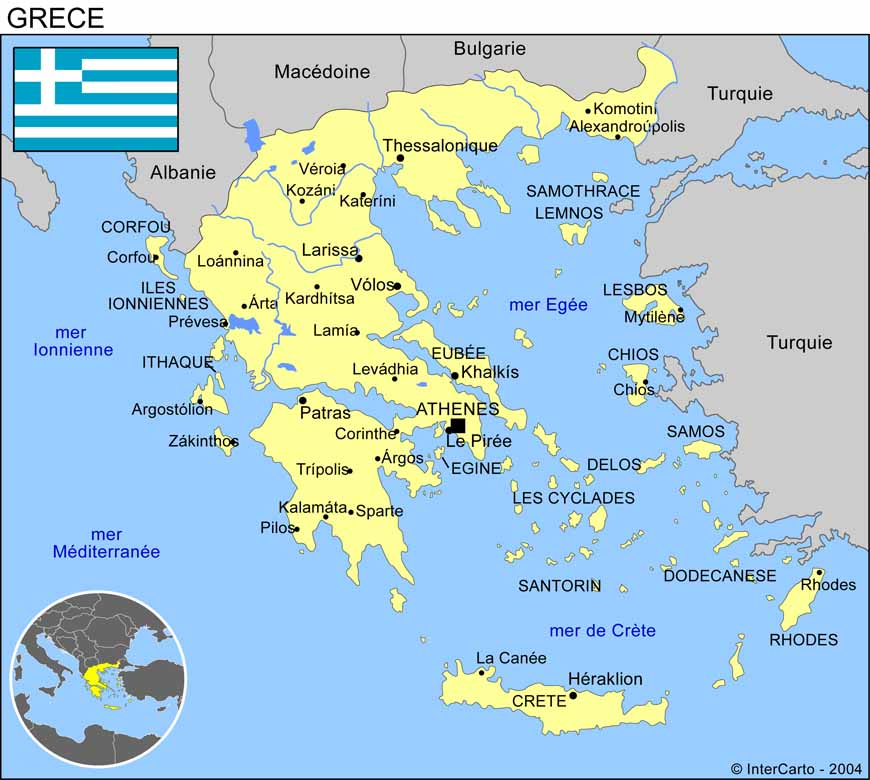 carte detaillee de la grece - Photo