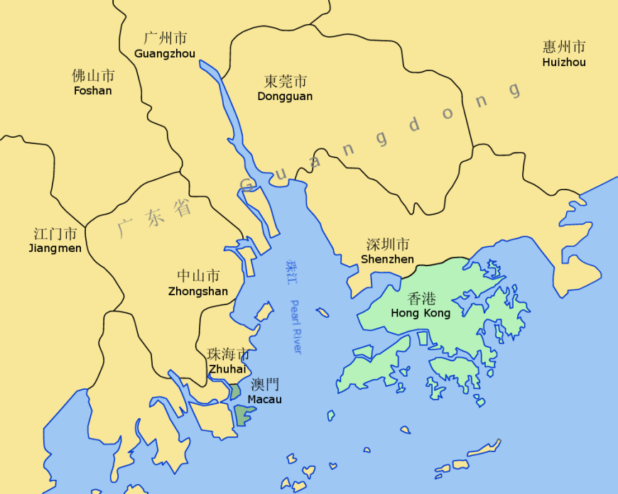 Hong Kong Carte Du Monde.Carte Geographique Et Touristique De Macao Macao