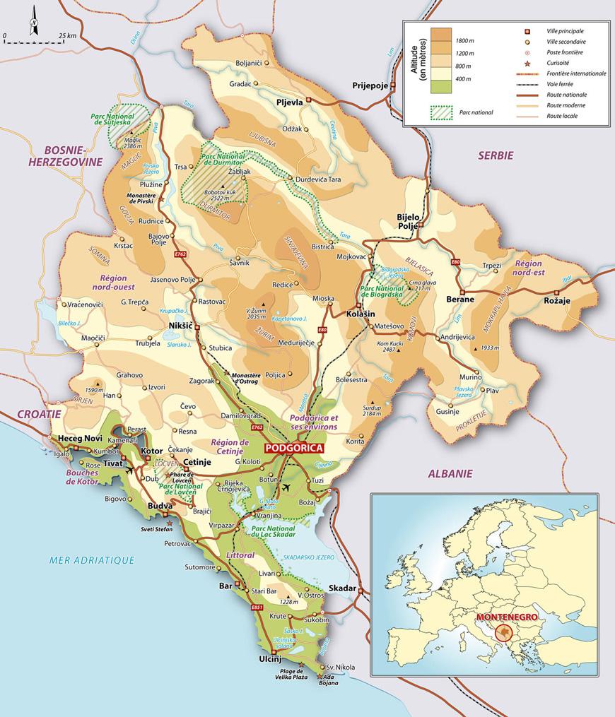 Mer Adriatique Croatie Carte