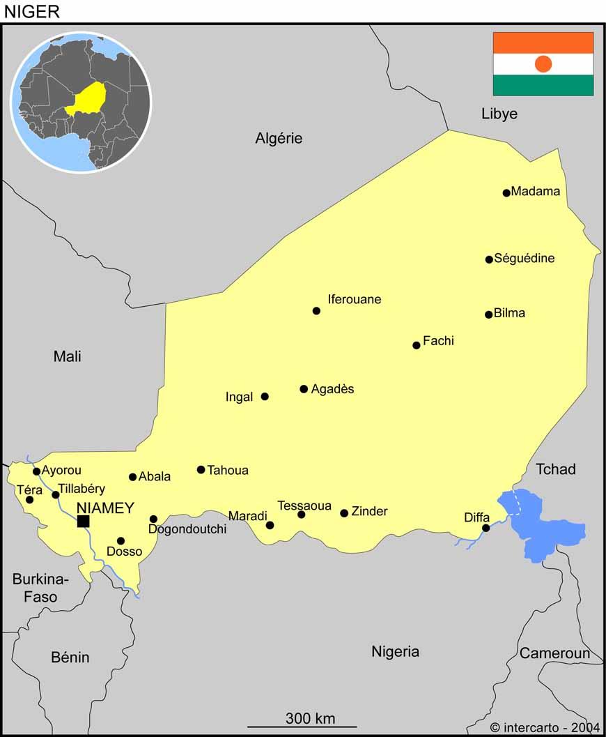 Carte Algerie Niger.Carte Geographique Et Touristique Du Niger Niamey