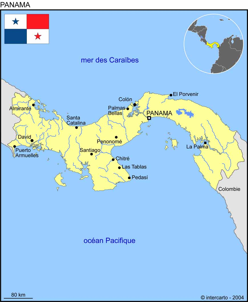 panama-carte-du-monde - Photo