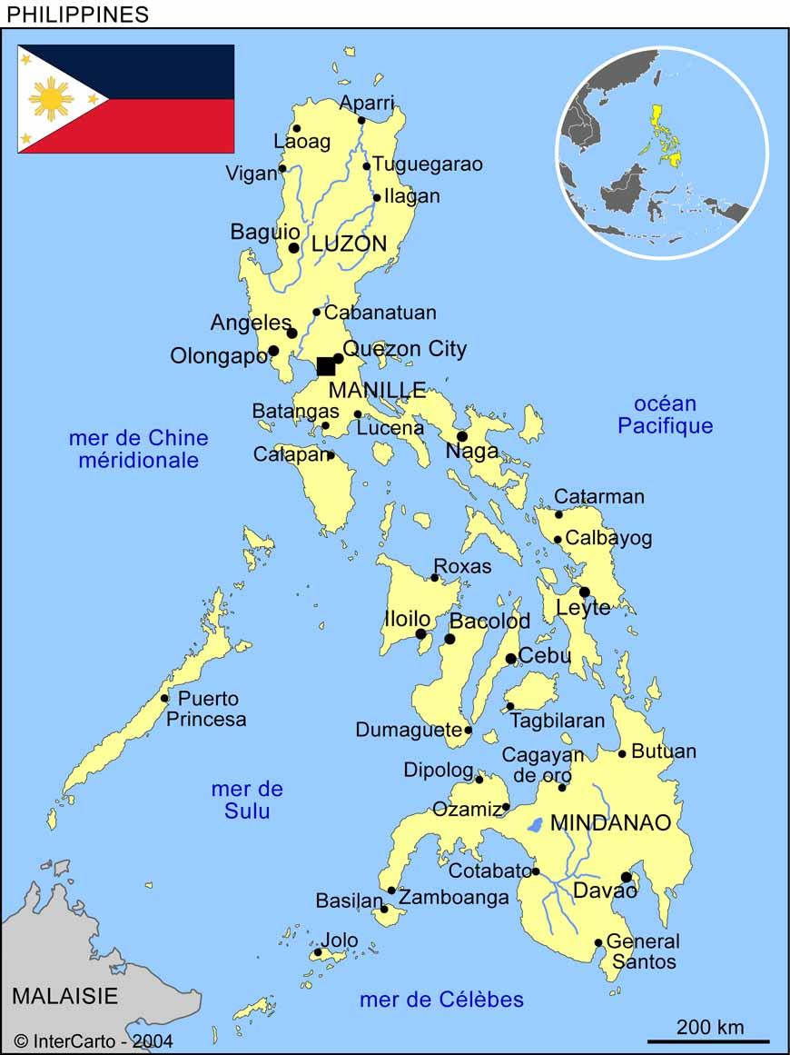 philippines carte du monde