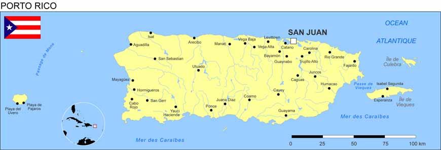 Carte géographique et touristique de Porto Rico, Porto Rico
