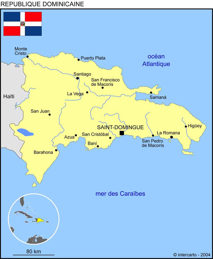 carte de la republique dominicaine