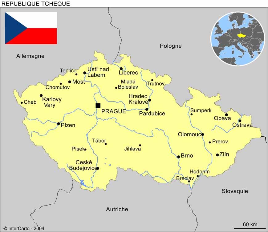 carte europe republique tcheque