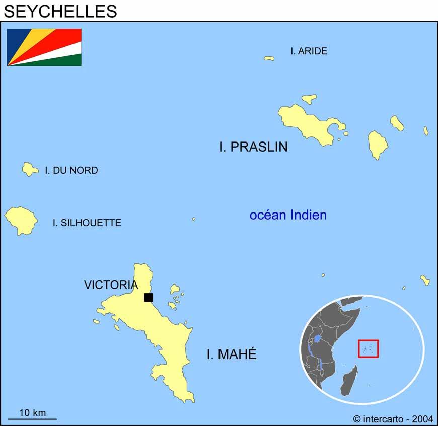 seychelles carte du monde